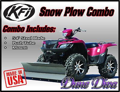 "KFI 54"" Snow Plow Blade Mount Combo Kit: Suzuki King Quad 450 500 700 750"