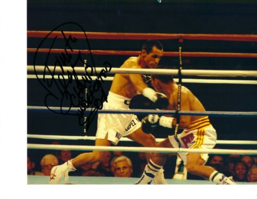 FINITO LOPEZ 8X10 SIGNED PHOTO BOXING PICTURE AUTOGRAPHED