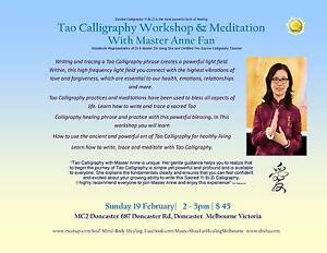 Tao Source Calligraphy and Meditation with Master Anne Doncaster Manningham Area Preview