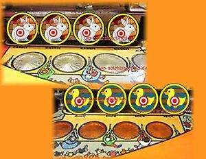 COMET PINBALL CUSHIONED TARGET ARMOUR (8) PINBALL DECALS + (3) DROP TARGETS