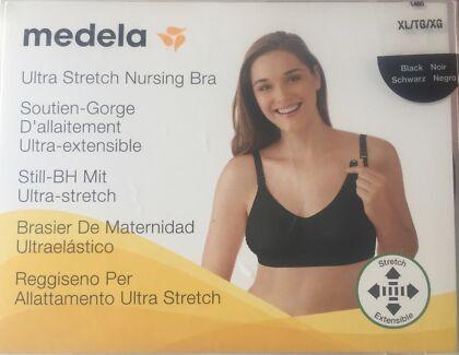 BRAND NEW - Medela Stretch Nursing Bra, Black, Size XL