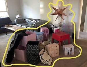 Red side table, hairdresser, make up organizer, clothes horse Hornsby Hornsby Area Preview