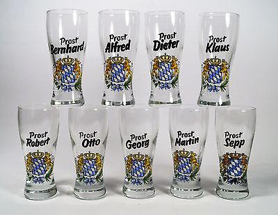 Schnapsglas mit Namen, Form Weißbierglas,  individuelle Anfertigung.