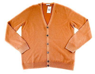 Mens COUNTRY CLUB Extrafine Wool 6Btn Cardigan Jumper Sweater 52 L NWT