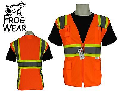 3m Ansi Class 2 Surveyor Style Pockets Safety Vest High Visibility Xl X-large