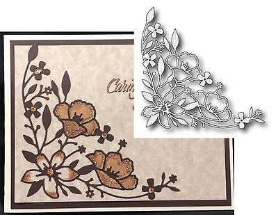 Wildflower Corner Metal Die Memory Box Cutting Dies 98895 Flowers Leaves Border