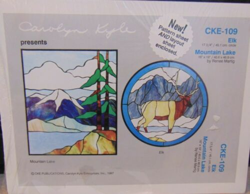 Mountain Lake & Elk CKE-109 Stained Glass Pattern by Carolyn Kyle New