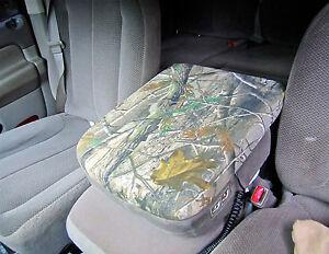 center console armrest cover realtree mossy oak dodge ram cc 9 camo ebay. Black Bedroom Furniture Sets. Home Design Ideas