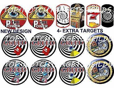 TWILIGHT ZONE PINBALL HIGH IMPACT TOP QUALITY Target Cushioned Decals