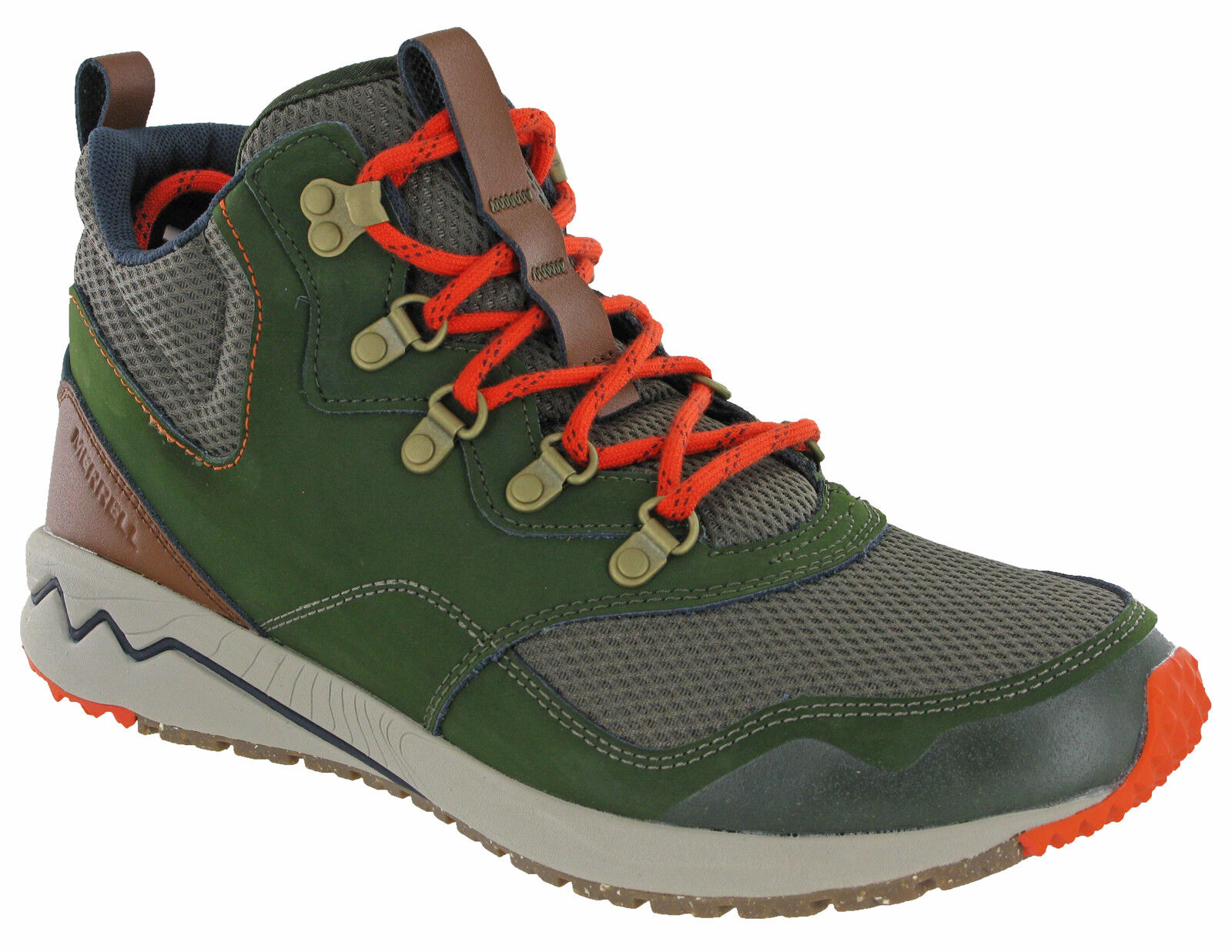 Stowe Ankle Walking Boots Mid Hiking Mountaineering Leather Rosin Mens Merrell POZAFqnF