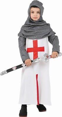 Cheap Knight Costume (Costume Boy KNIGHT Templar 8 Years Child Medieval NEW)