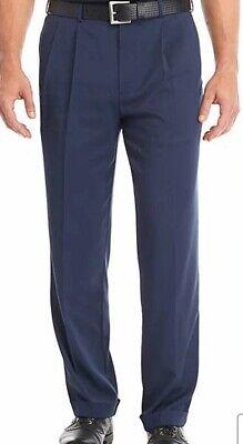 Men's New 40 x 32 Navy Blue PGA Tour Pleated Golf Pants