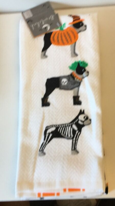 Boston Terrier In Costumes Kitchen Towels 2 Piece
