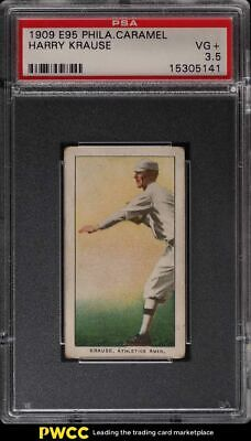 1909 E95 Philadelphia Caramel Harry Krause PSA 3.5 VG+