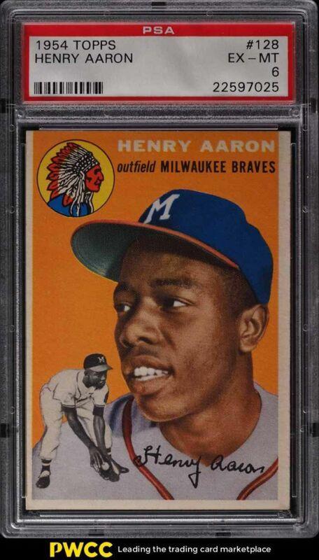 Vintage Topps Henry Hank Aaron Commemorative Reprint Cards-Set of 2