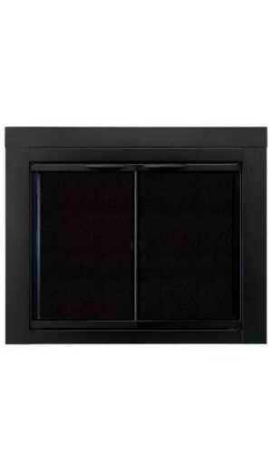 Pleasant Hearth Alpine Cabinet Style Fireplace Screen and Gl
