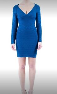 Navy blue dark blue bandage bodycon tight sexy dress small new