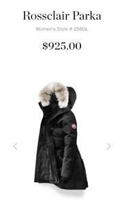 NEW Canada Goose Rossclair parka!