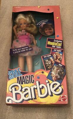 Barbie Style Magic Wondra Curl 1989 Vintage! Mattel