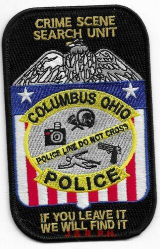 "Columbus  Crime Scene Search Unit, Ohio  (3"" x 5"") shoulder police patch  (fire)"