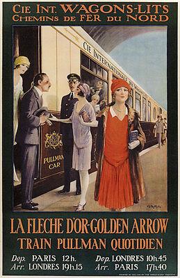 Internationale Wagons Lits Train Pulman Quotidien Paris London Plakate A1 270