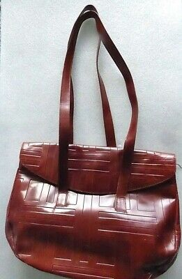 Authentic Vintage Italy Prada Leather large purse Shoulder Handbag, Rarely Used
