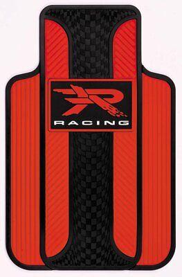 Plasticolor Velocity Style R Racing Red Floor Mat, 2-Piece 001727R04 - Red Floor