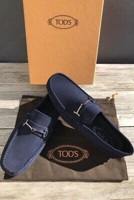 TOD'S MEN'S DOPPIA T FINE CITY NAVY GOMMINO LOAFERS SIZE 7-$645