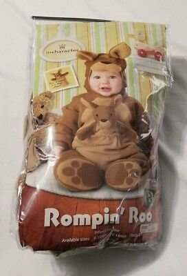 Pre-owned In Character Costumes Rompin Roo Kangaroo Complete Set Size 12-18Mos