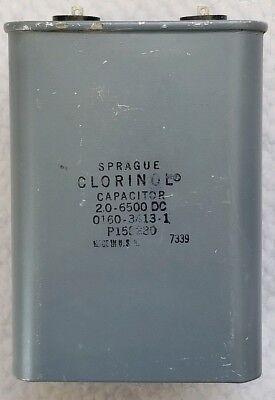 Sprague Clorinol 2.0uf 6500 Vdc Pio Capacitor Made In Usa