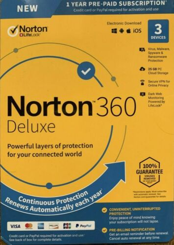 Norton 360 Deluxe for 3 Devices and 12 Months