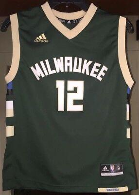 Jabari Parker Milwaukee Bucks Adidas Jersey Youth Medium, used for sale  Joliet