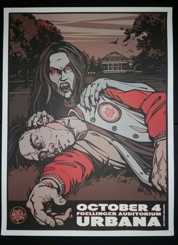 RYAN ADAMS Urbana 2012 Tour #/300 Poster Cardinals Lithograph Print Vampire