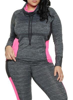 NEW Committee Instinct Women's Plus Size Color Block Activewear Top Size 3X