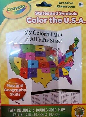 Crayola Creative Classroom Color Map The USA Kits by Teaching Tree home school Creative Teaching Maps