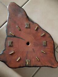 DIY craft  wood cypress clock 12  tall wall or standing needs mechanics kit