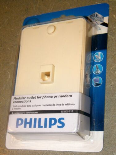 10-PACK Philips Wall Mount Phone Mounting Plate Side Jacks SDJ6050/17