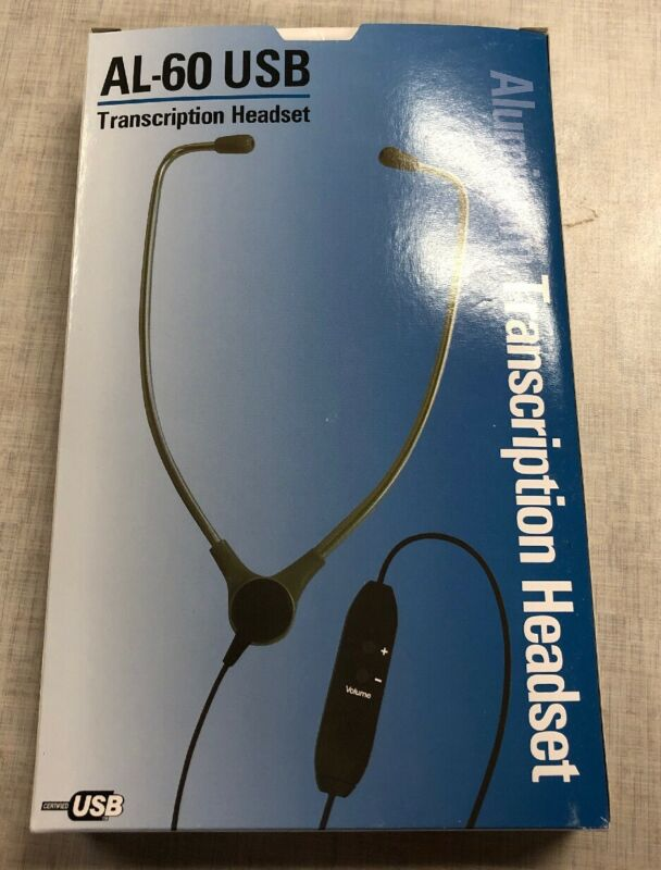 Computer Headsets AL-60 Aluminum USB Transcription Headset New in Box