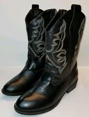 Frye & Co Bailey Patch Western Boot Kids Girls Size 2 Black