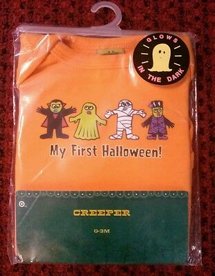 As Darkness Falls Halloween (New With Tag Creeper Baby As 0-3 Months My First Halloween Glow In Dark)