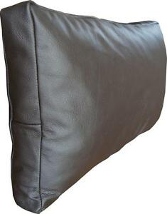 White Leather Cushions