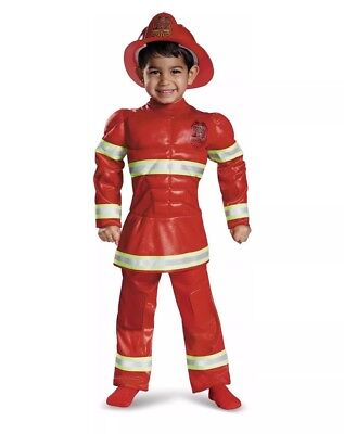 Red Fireman Toddler Boys Halloween Costume Size 2T (2t Fireman Halloween Costume)