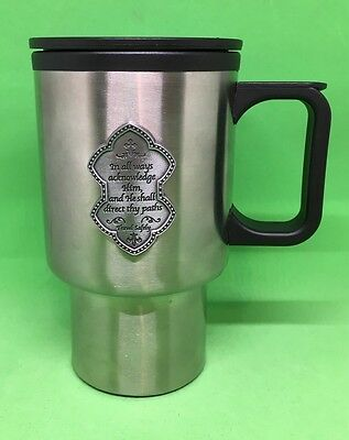 16 oz Stainless Steel Travel Mug Handle & Lid In all ways acknowledge Him safely