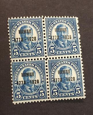 US Scott # 648 Hawaii 5¢ Overprint (1928)  Block of 4 MNH***FREE SHIP***