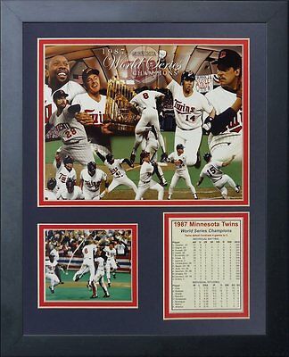 1987 World Series Teams - 1987 MINNESOTA TWINS WORLD SERIES CHAMPIONS PUCKETT TEAM FRAMED 8X10 PHOTO