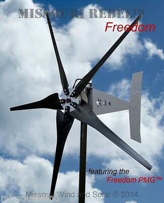 Missouri Rebel Freedom 48 volt 1700 watts max 5 blade wind turbine generator