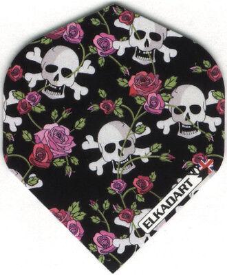 Skulls and Roses Dart Flights: 3 per set