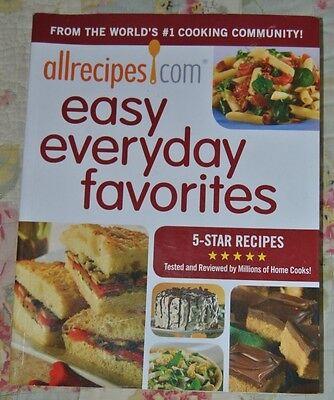 Allrecipes Com Cook Book Easy Everyday Favorites 5 Star Recipes 2010 Cooking