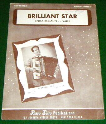 ACCORDION Sheet Music, BRILLIANT STAR, Stella Brillante, Waltz 1947 Russell Fama for sale  Canada