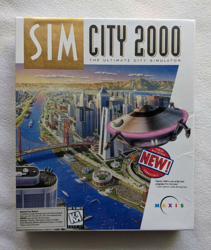 SEALED Maxis Sim City 2000 1993 Big Box PC